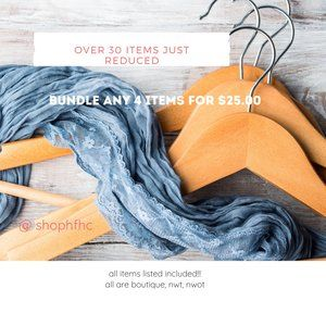 Bundle ANY 4 items for $25.00